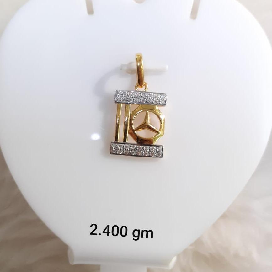 916 Gold CZ Fancy Pendant KG-P03