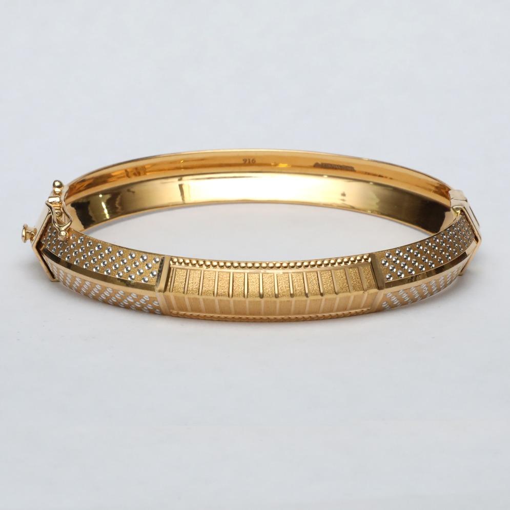22KT Gold Fancy Kada For Men ML-B007