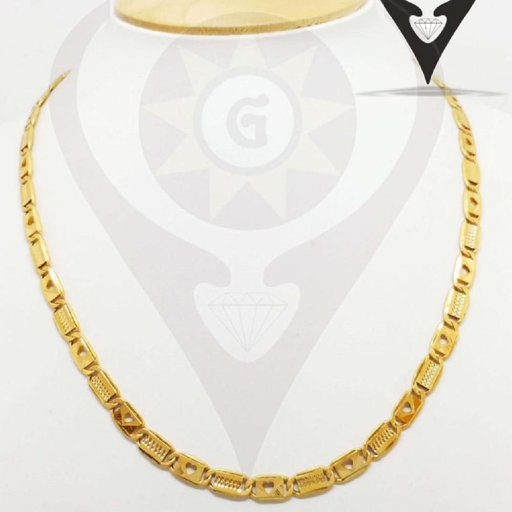 916 CZ Gold Heavy Chain For Men's