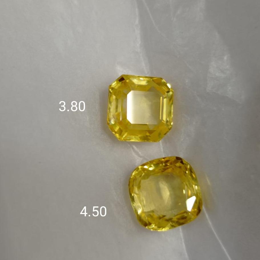 3.80ct Square Yellow-Sapphire-Pukhraj SG-Y01