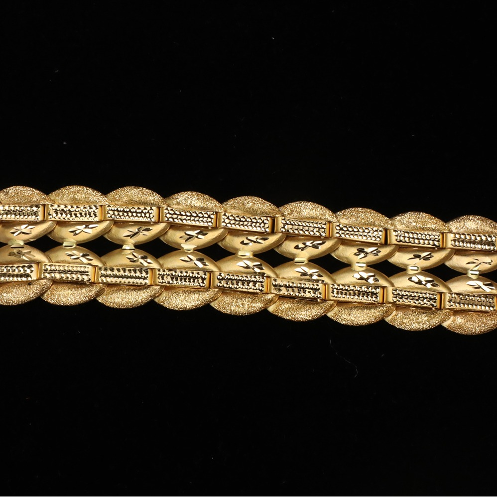 916 Gold Indo Italian Bracelet For Men ML-B008