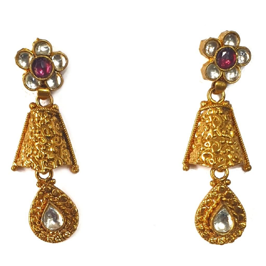 1 gram gold forming necklace set mga - gfn0022