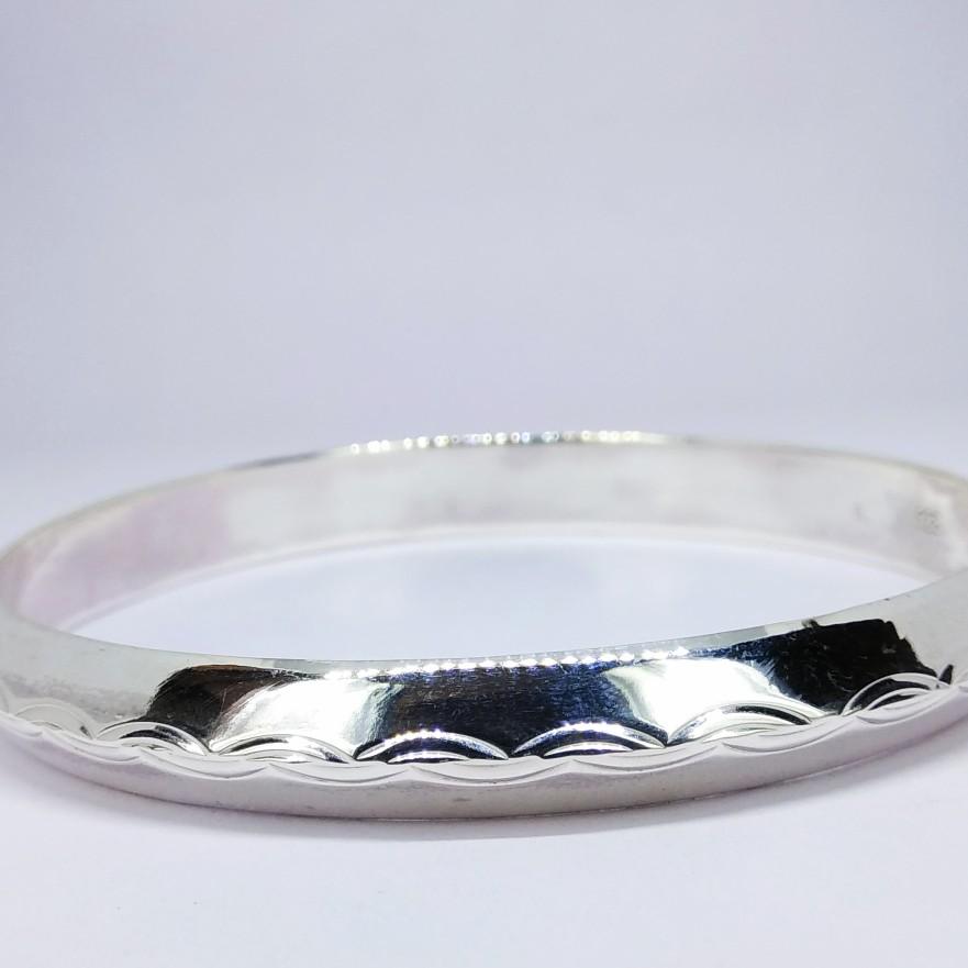 92.5 sterling silver hollow kada