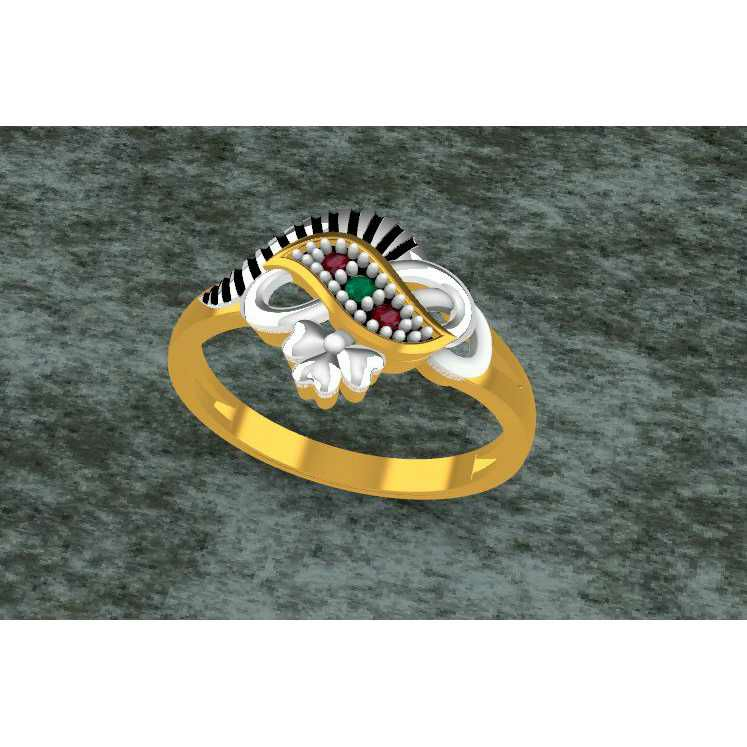 American Dimond Finish Toe Ring Bichiya(Vichiya) Ferva Ms-2493