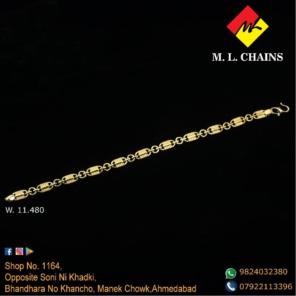 22Kt Gold Modern Lucky Bracelet ML-B10