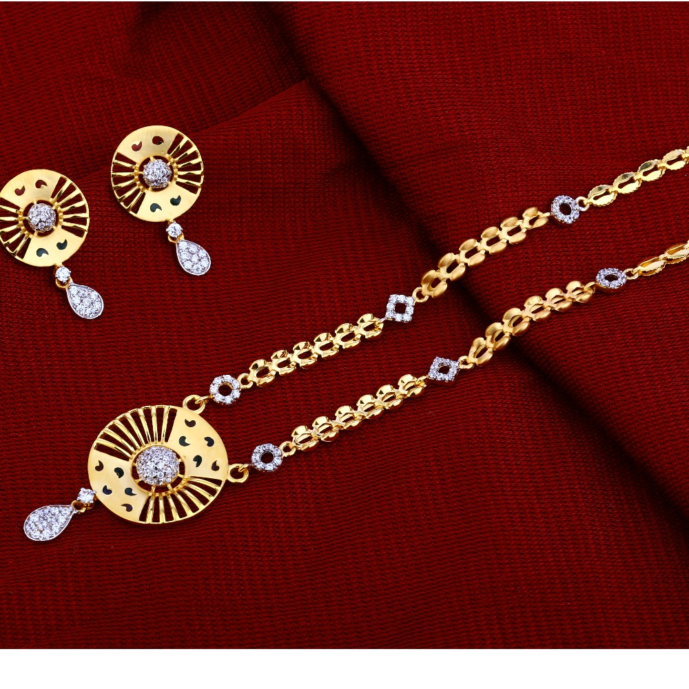 22kt Gold  Stylish Chain Necklace CN66