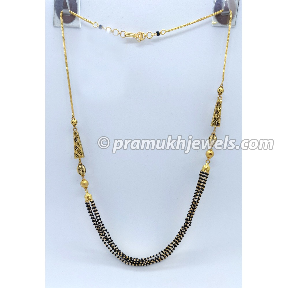 22kt gold fancy mangalsutra pj-m002