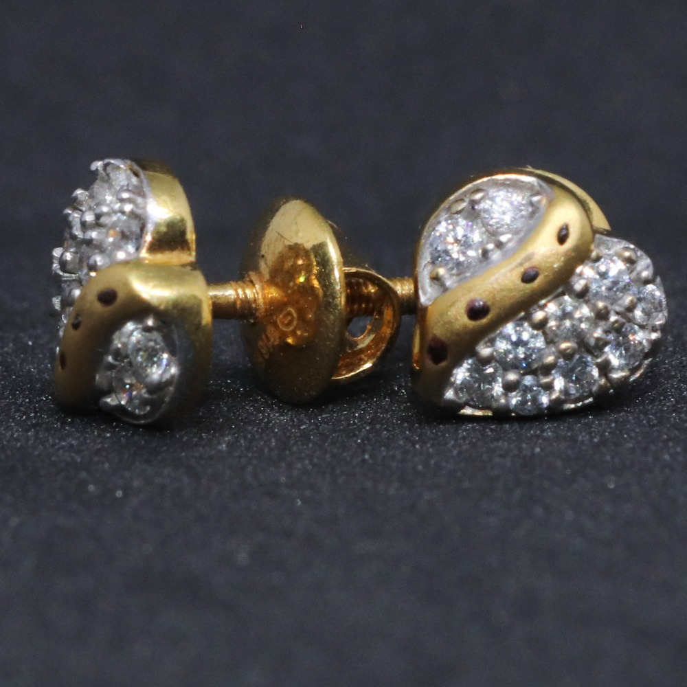 22KT / 916 Gold fancy delicate Hart shape earring for Ladies BTG0095