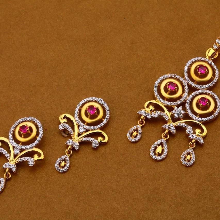 Ladies pendant set 916 cz
