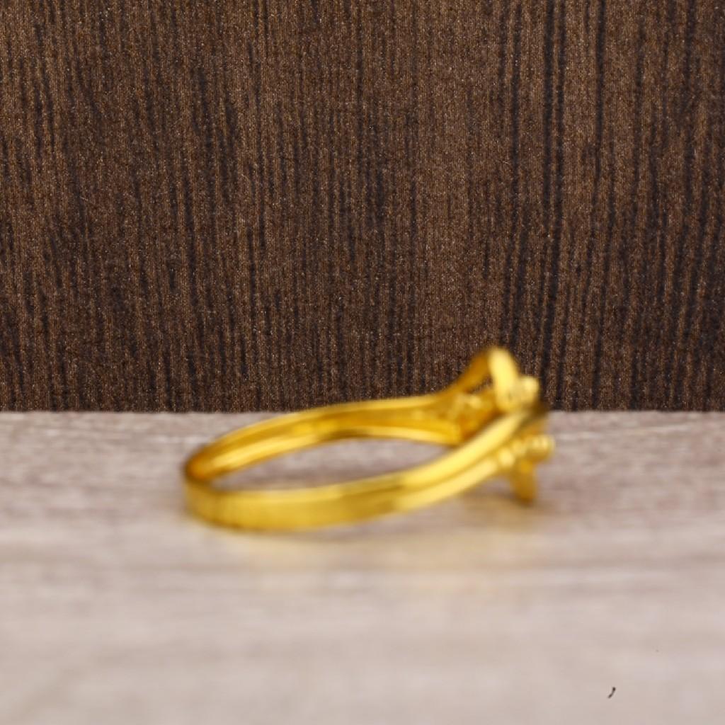 916 Gold Women's Fancy Plain Ring LPR234