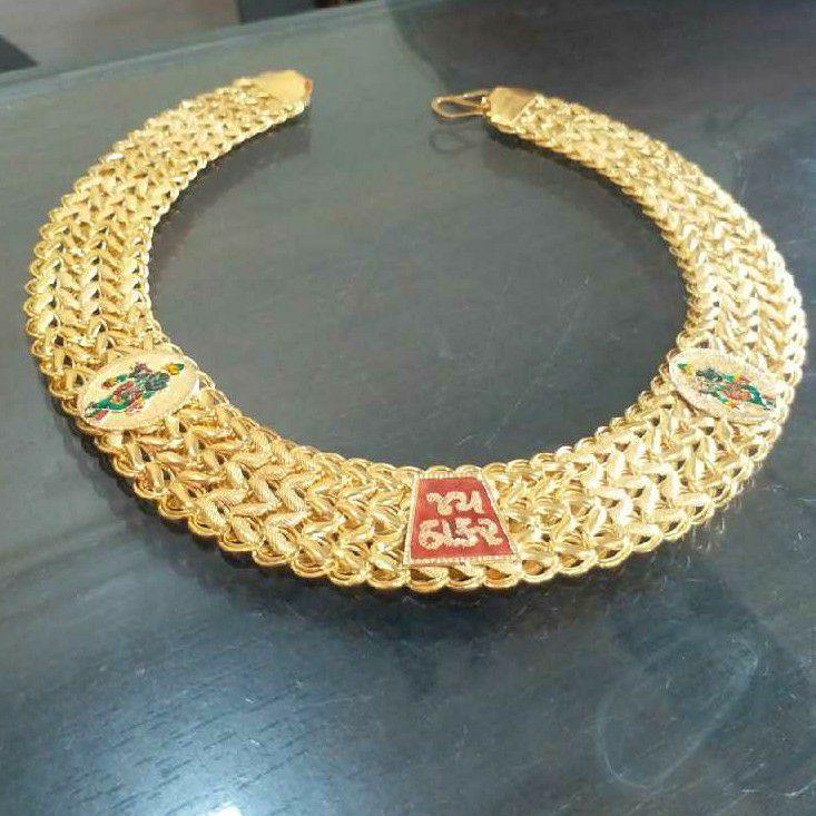 22KT Gold Handmade Jay Thakar Thick Bharvadi Chain