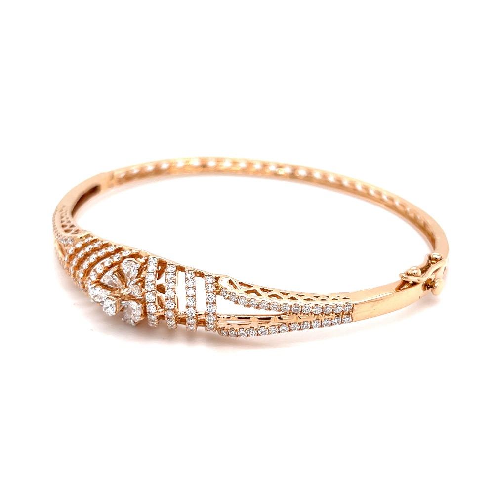 Mirum Diamond Bracelet in 18k Rose Gold VVS EF