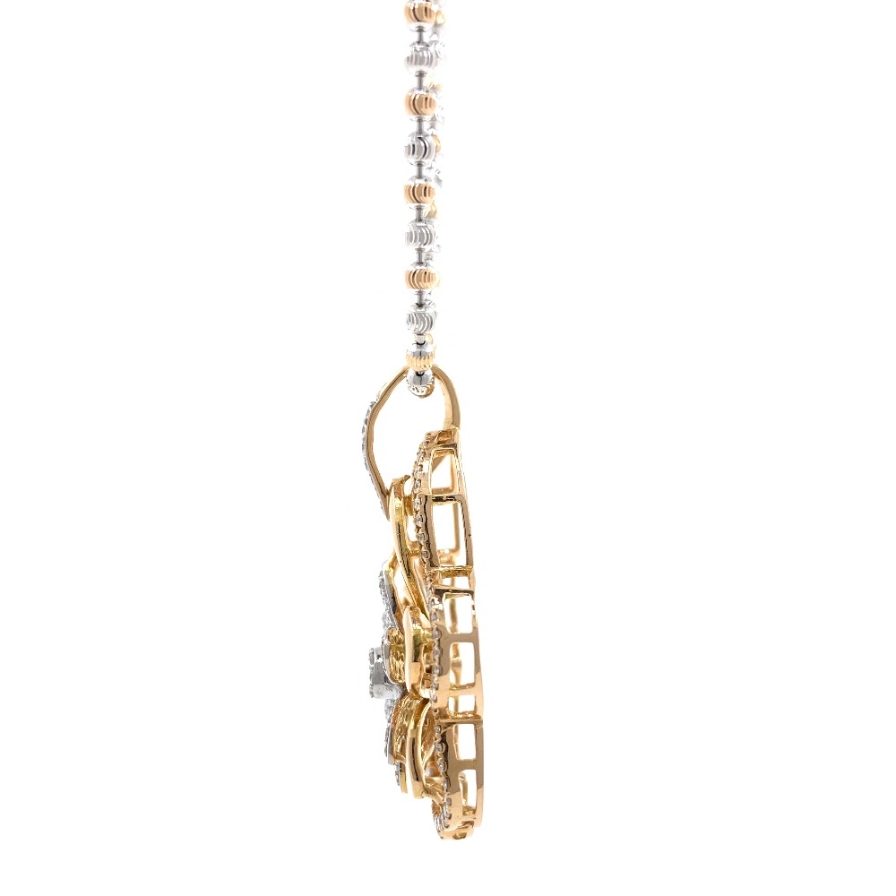Designer Floral Diamond Pendant in Rose Gold 8SHP85