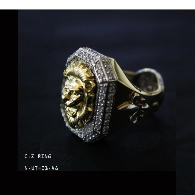 18kt jents ring