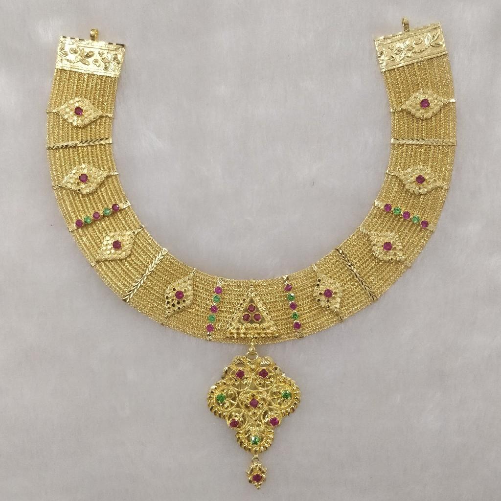 916 Gold bharavadi set
