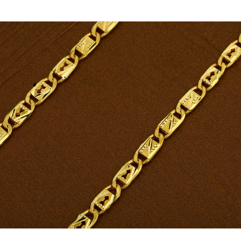 22kt  Gold Hallmark   Men's  Nawabi Chain  MNC12