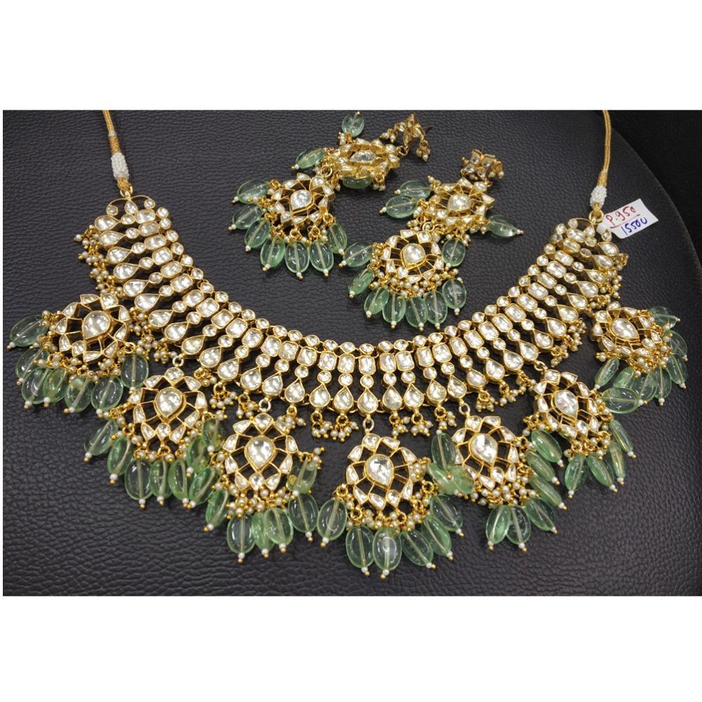 Designer Kundan Work Bridal Necklace Set