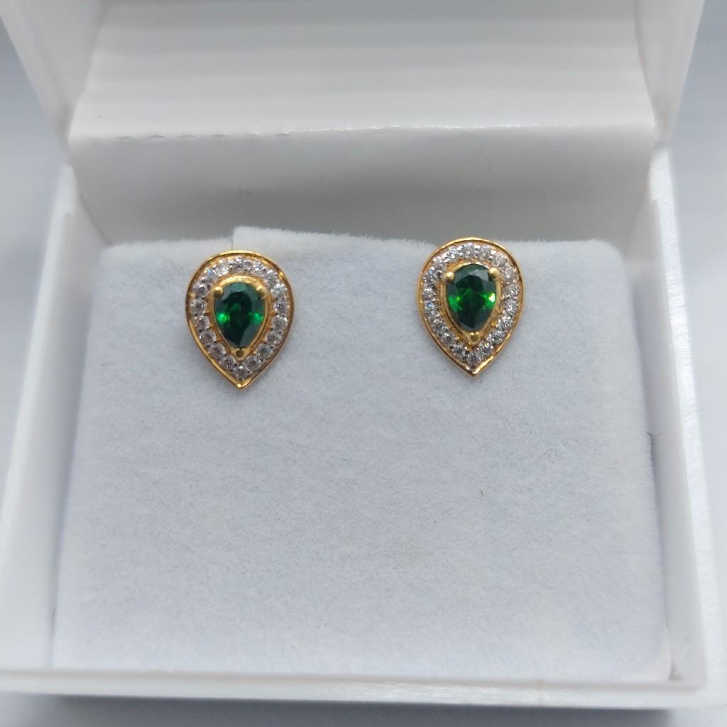 22k royal green earring