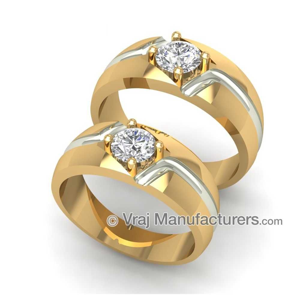 Couple Ring Cz Jewellery Engagement Ring