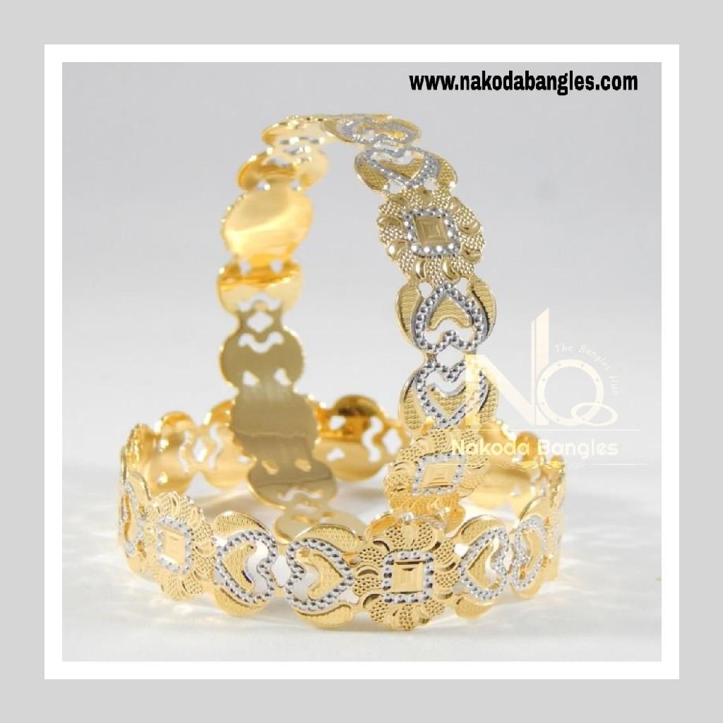 916 Gold CNC Bangles NB - 706