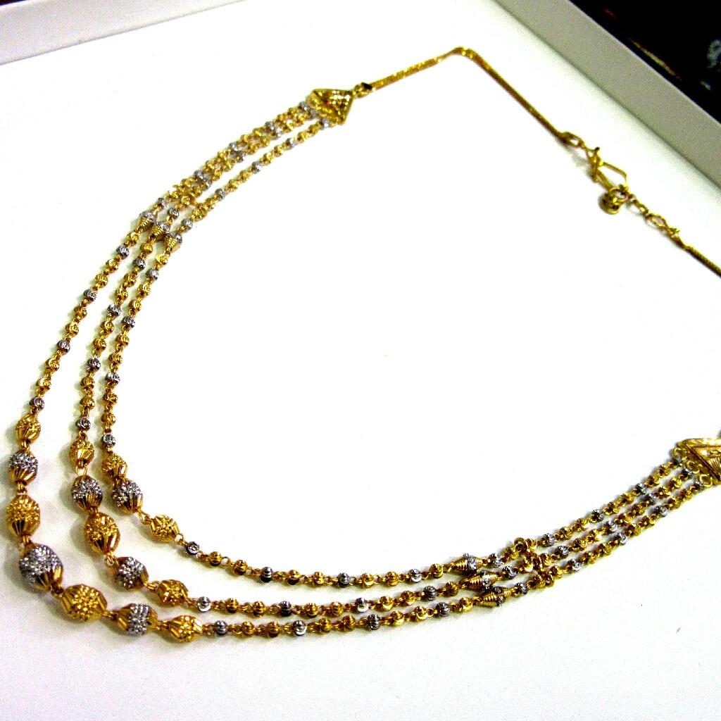 Gold 22k 916 Hallmark 3 Line Mala
