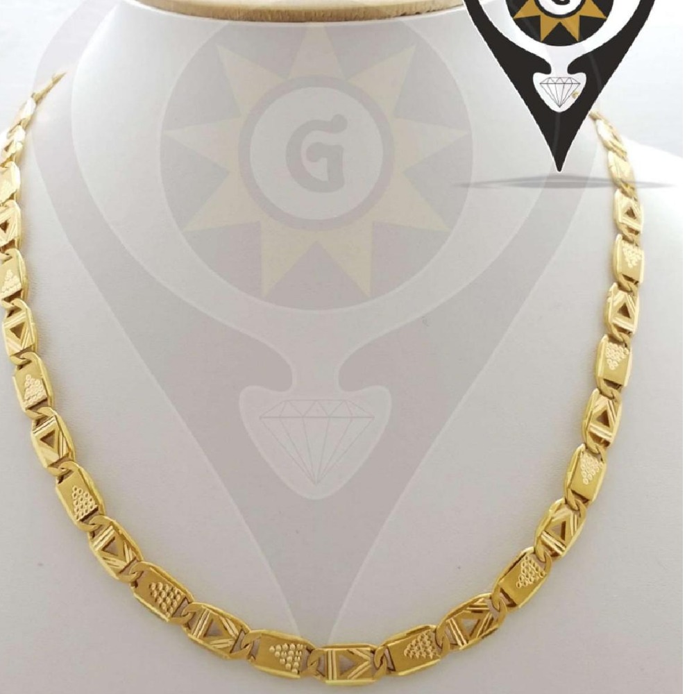 916 hallmark CZ Gold New Morden Design chain
