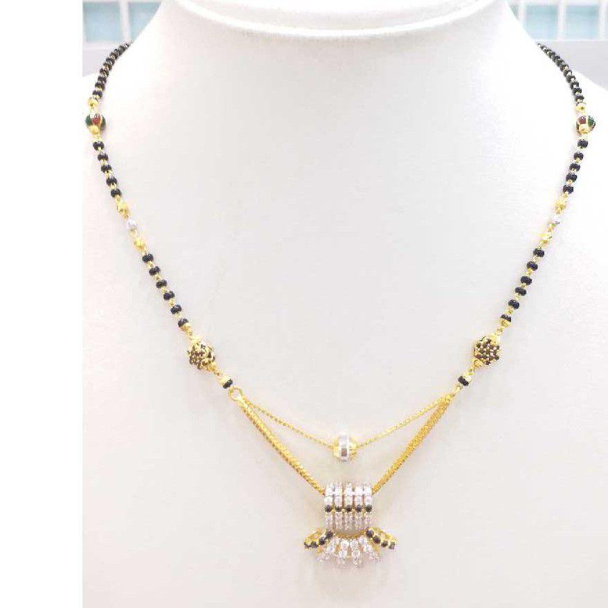 916 gold chain mangalsutra RJ-M031