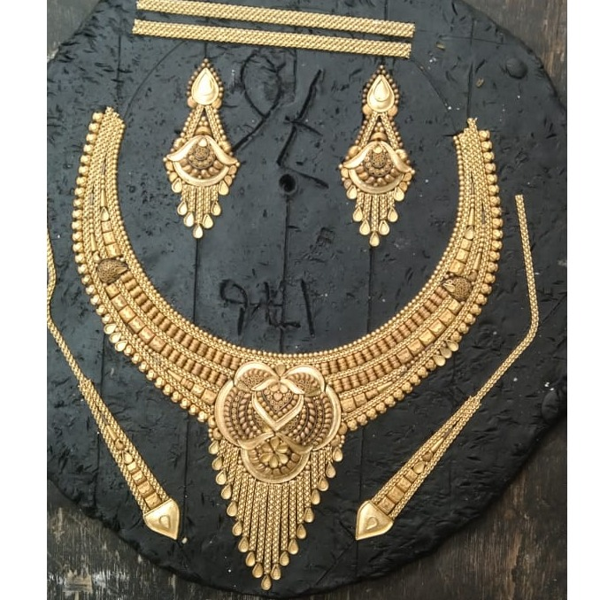 916 CZ Hallmark Gold Elegant Bridal Necklace Set