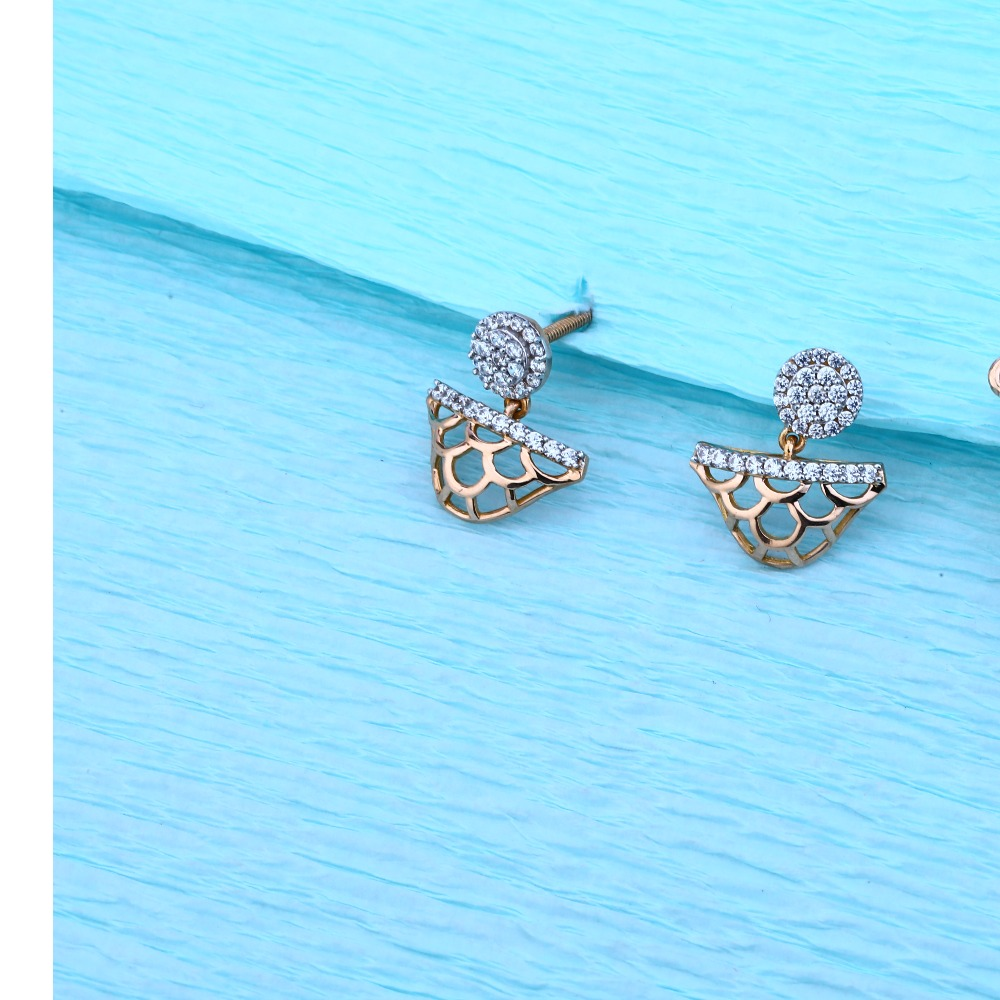 18KT Rose Gold Ladies Hallmark Delicate Pendant Set  RMPN49