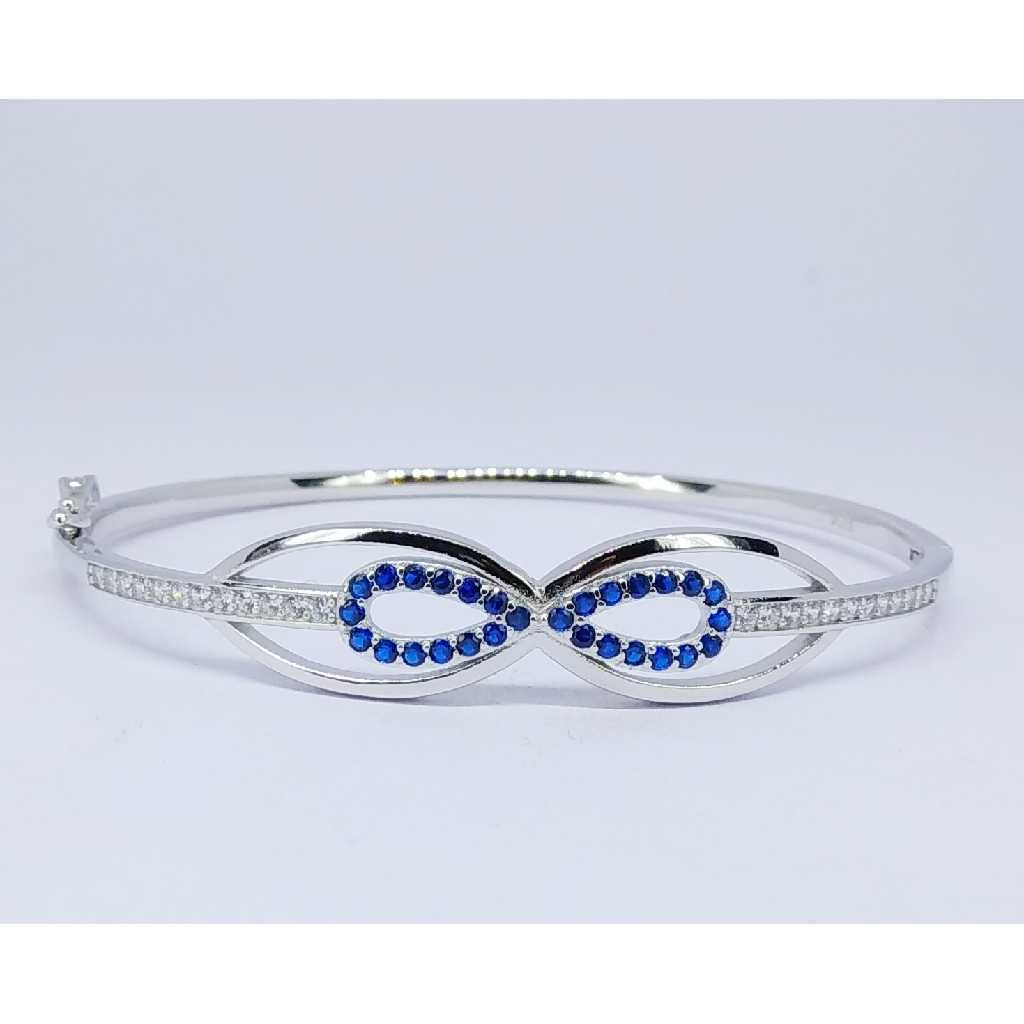 92.5 Sterling Silver Fancy Ladies Kada Bracelet