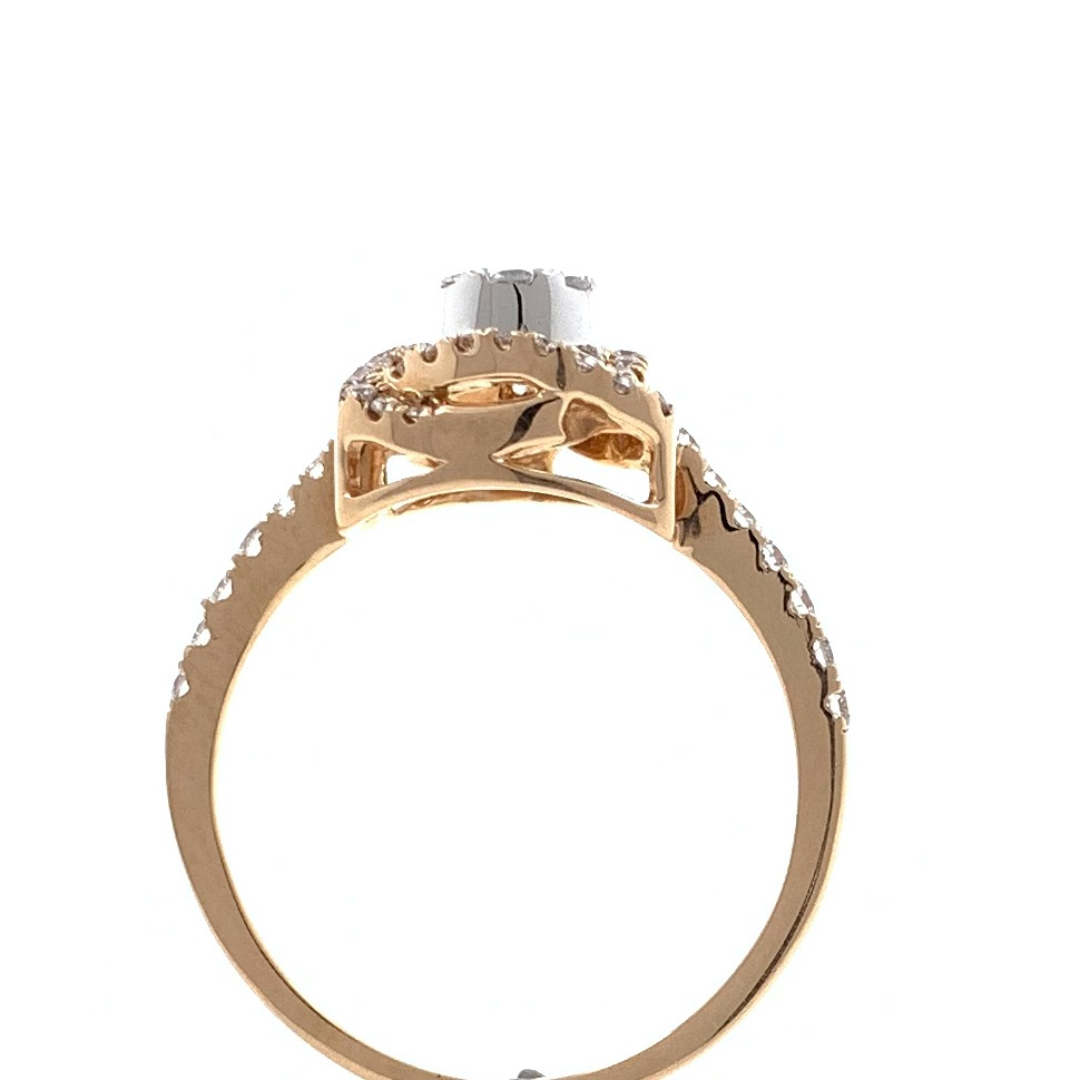 18kt / 750 rose gold solitaire look diamond ring for women 8lr239