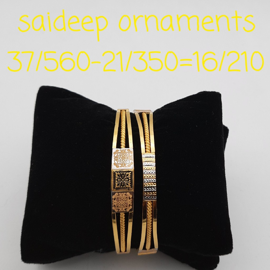 22 ct 916 copper bangles kadli desing