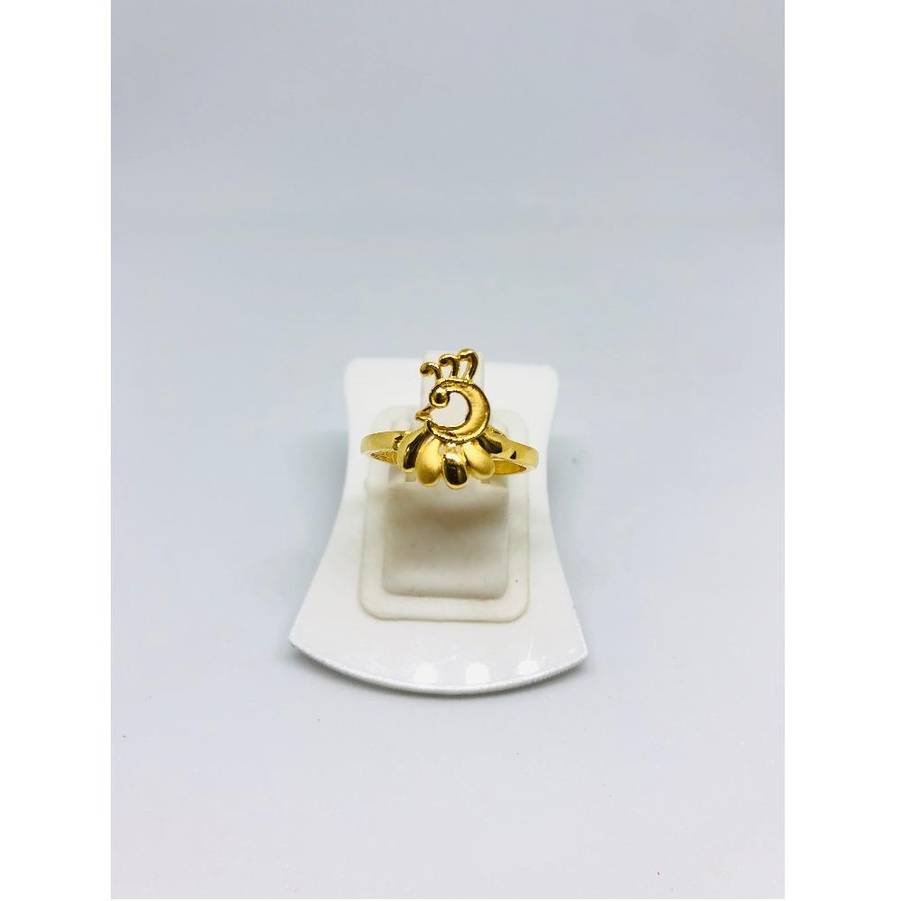 916 Gold Peacock Design Ring For Women KDJ-R010