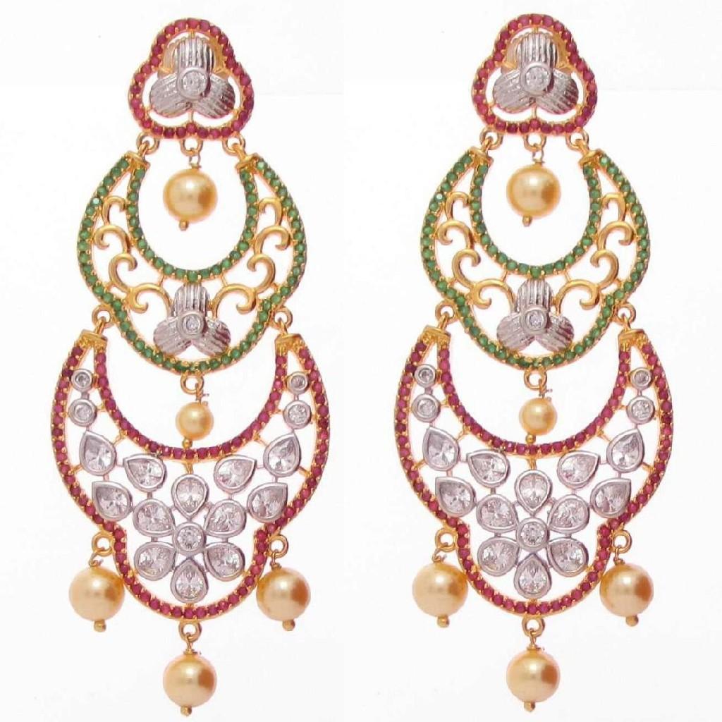 92.5 sterling silver exclusive bridal earrings ml-017
