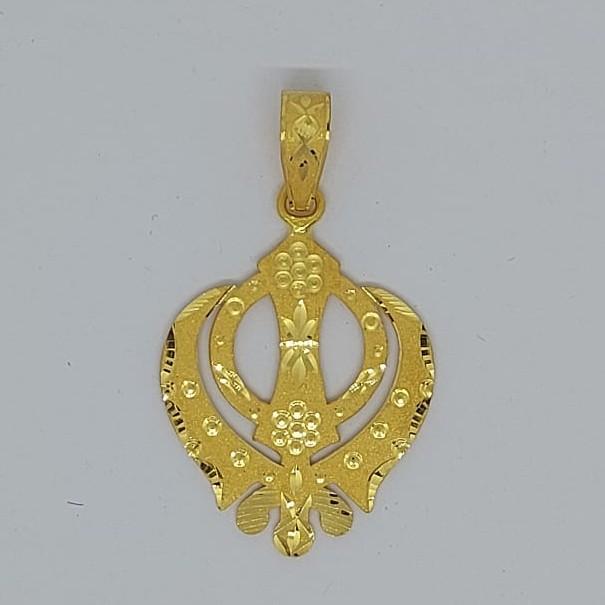 916 Gold Fancy Gent's khando Pendant