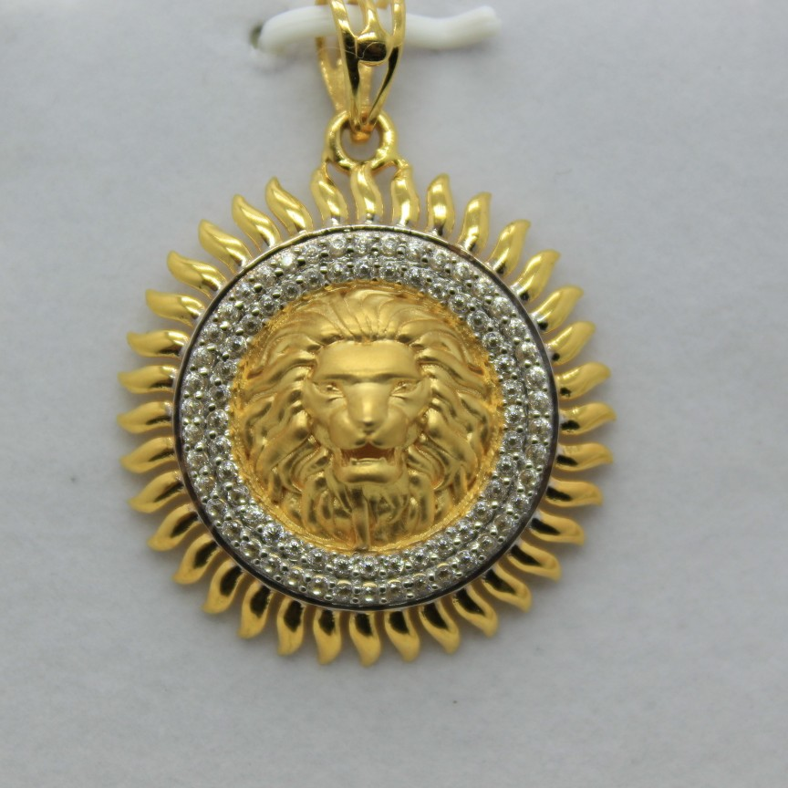 22k /916 executive gents chain pendant