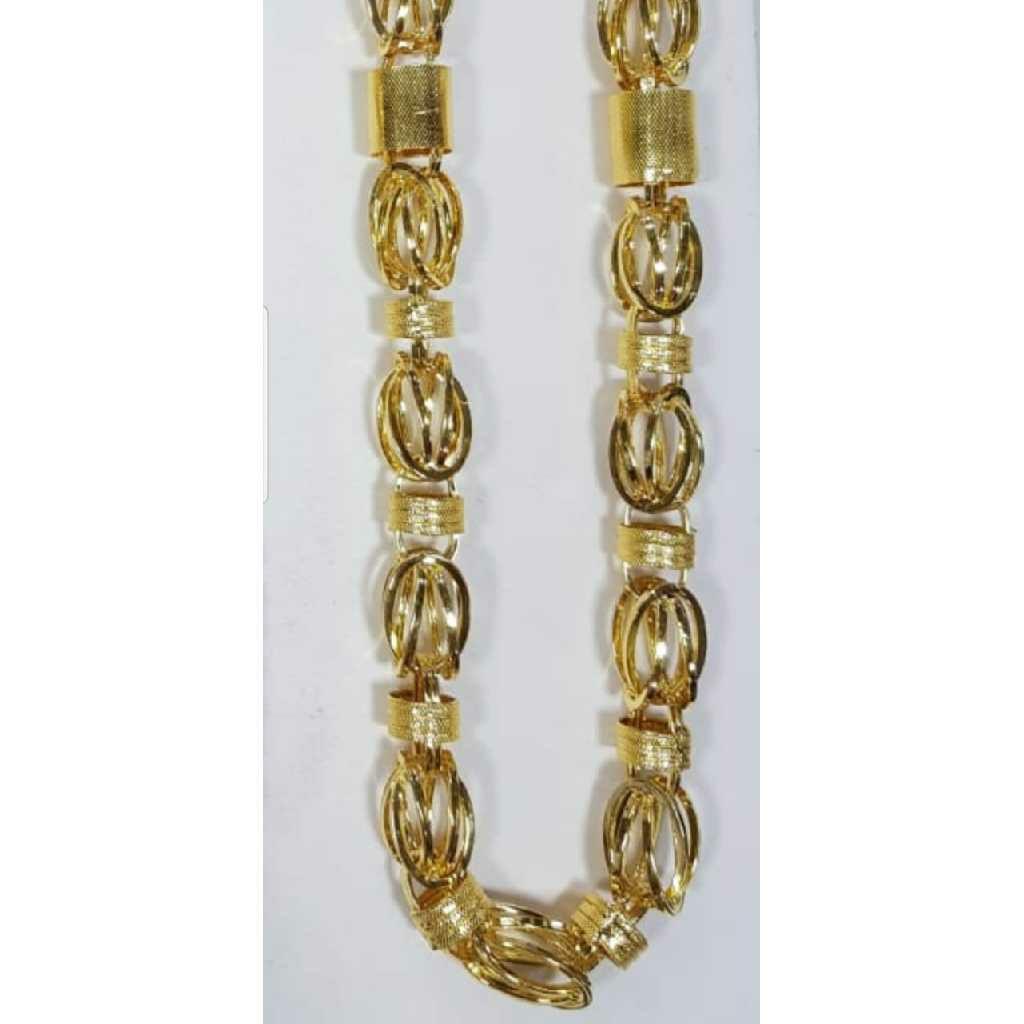 916 Gold Rajwadi Indo Italian Gents Chain