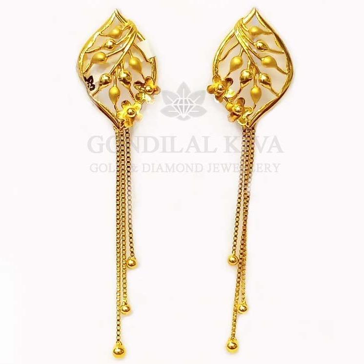 22 kt gold earrings gft hm57