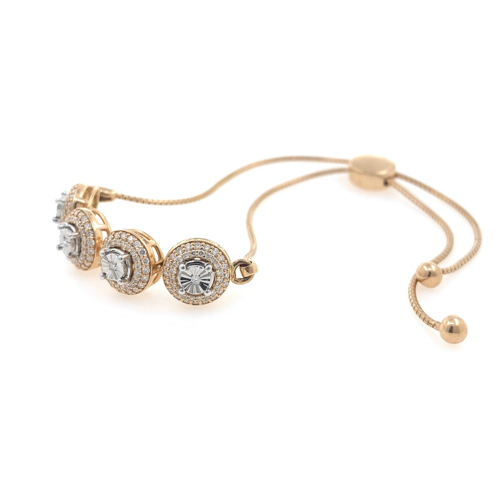 18kt / 750 rose gold flexi chain diamond bracelet 9brc12