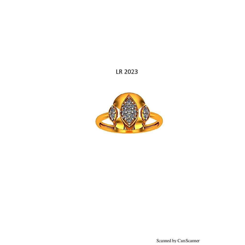 76 Gold cz Ladies ring 023