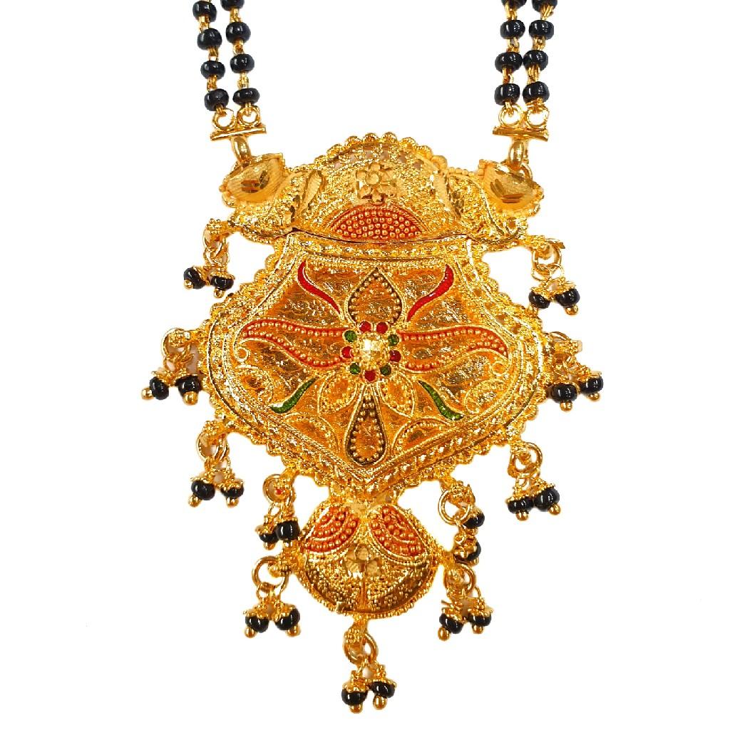 1 Gram Gold Forming Designer Mangalsutra MGA - MSE0460