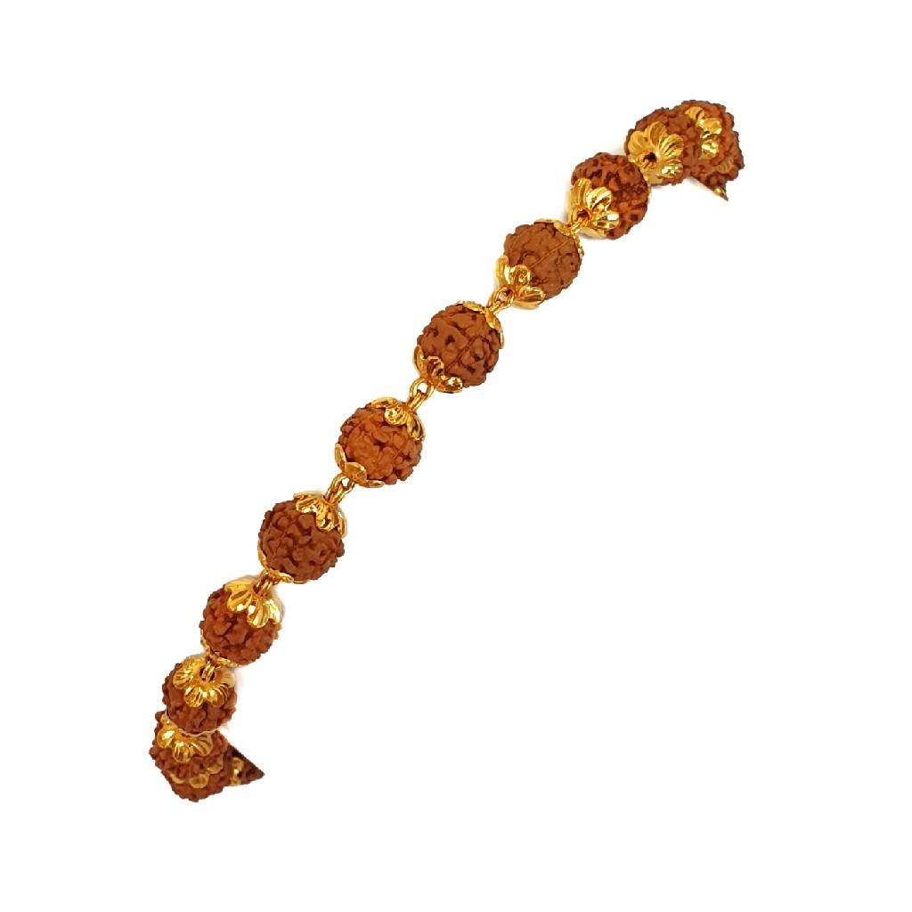 One gram gold forming rudraksh bracelet mga - rue0...