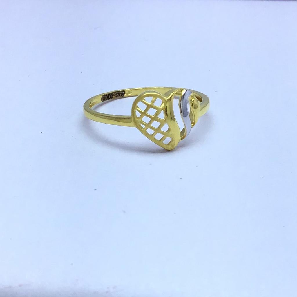 designing heart fancy gold ladies ring