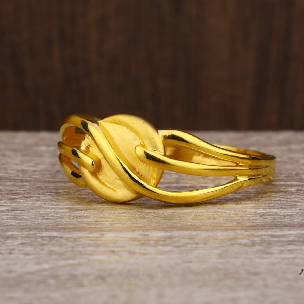916 Gold Women's Classic Plain Ring LPR237