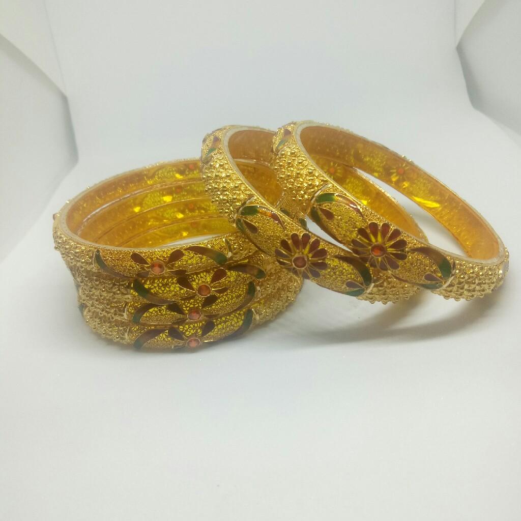 22kt gold bangle patla set