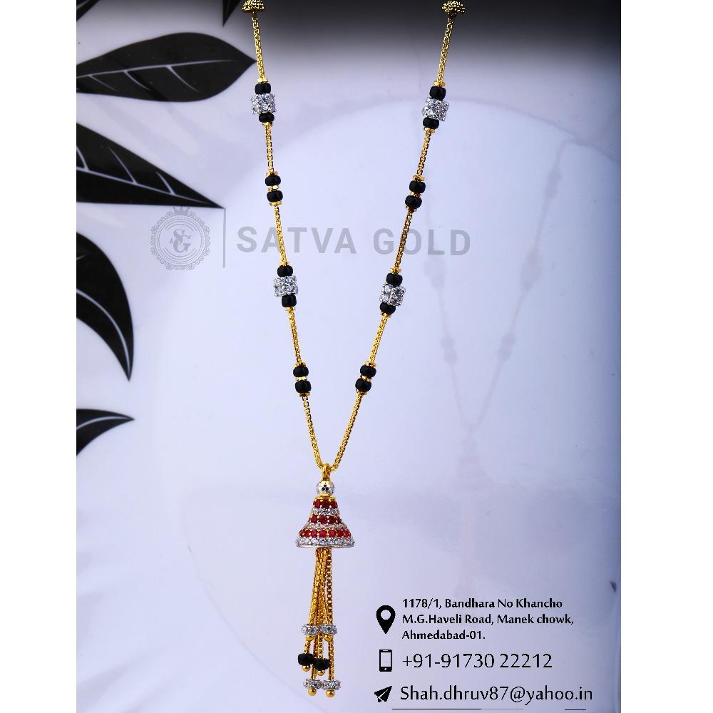 916 gold CZ Mangalsutra SGC-0046