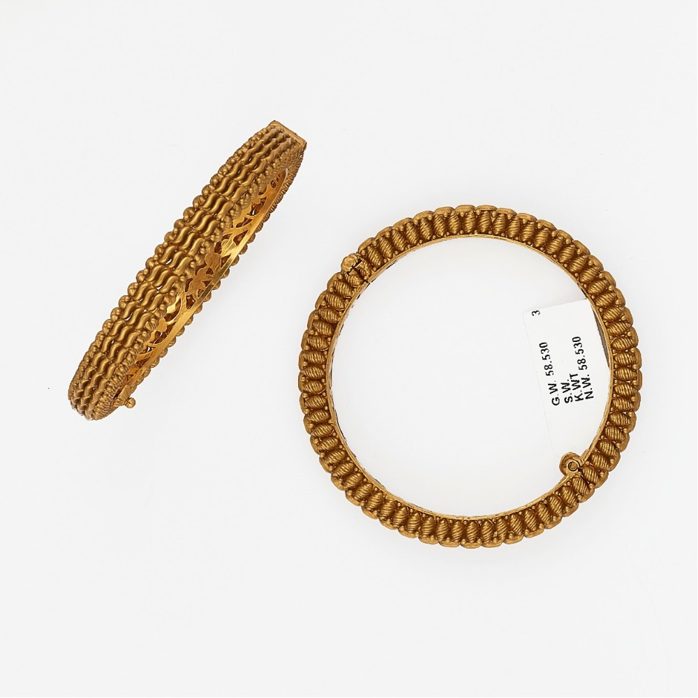 916 Gold Trendy Bangle SJ-6947