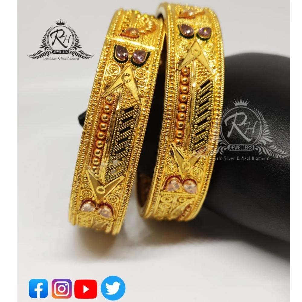22 carat gold stylish ladies bangles RH-LB067