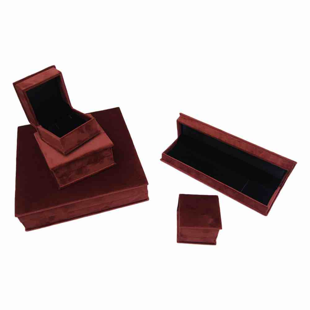 Brown swede jewellery box