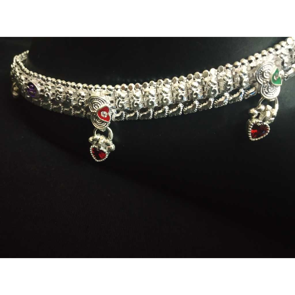 D Aamrapali Kismat 4 Line Fancy Super Nice Casting Red Dil Dimond Payal